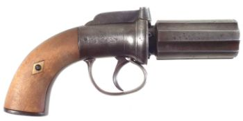 Percussion pepperpot pistol