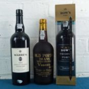 3 Bottles Mixed Lot Fine Tawny, Crusted and Single Quinta Vintage Port