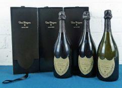 3 bottles Champagne 'Dom Perignon' 2003