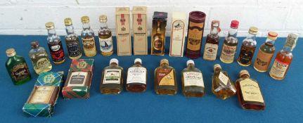 24 Miniature Bottles Fine Scotch Whisky and Boubon