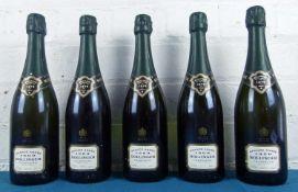 5 bottles Champagne Bollinger 'Grande Annee' 1990
