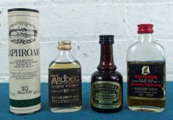 4 Rare Islay and Skye Whisky Miniature Bottles from 1970's / 80's