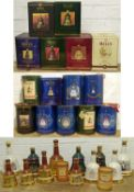 28 Bottles (various sizes described within Lot) Bell's Whisky Commemorative Decanters