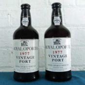 2 Bottles Royal Oporto Vintage Port 1977