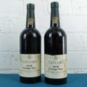 2 Bottles Taylors Vintage Port Vintage 1975