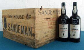 """9 Bottles """"The Silver Jubilee"""" Sandeman Vintage Port Vintage 1977"""