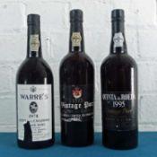 3 Bottles Mixed Lot Fine Vintage Port