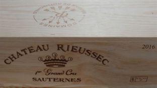 Bottles Chateau Rieussec Premier Cru Classe Sauternes 2016