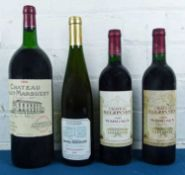 4 Bottles (including 1 magnum) Mixed Lot of Fine mature claret and Alsace