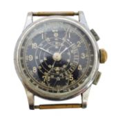 A 1940s Breitling Telemetre Chronograph watch,