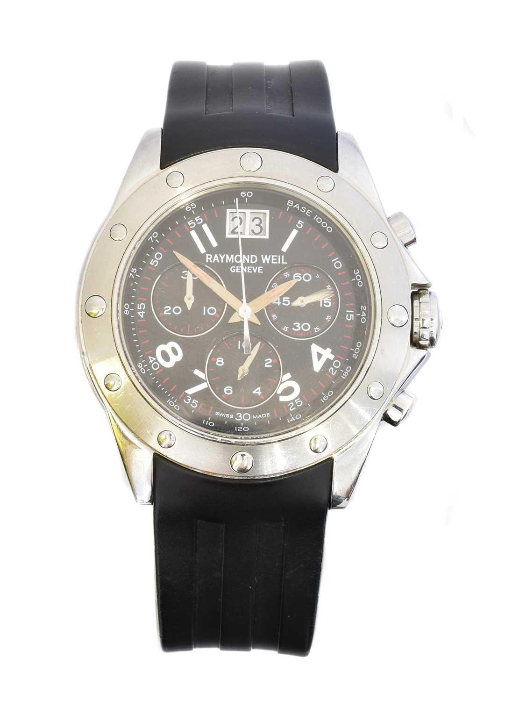 A stainless steel Raymond Weil Collection Tango quartz wristwatch,