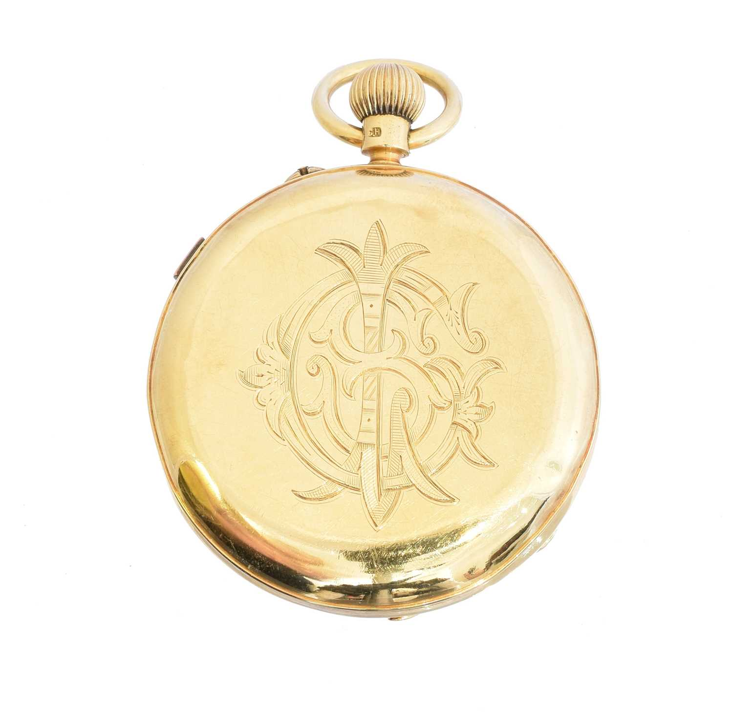 An 18ct gold open face pocket watch by W. Batty & Sons Ltd., - Image 2 of 3