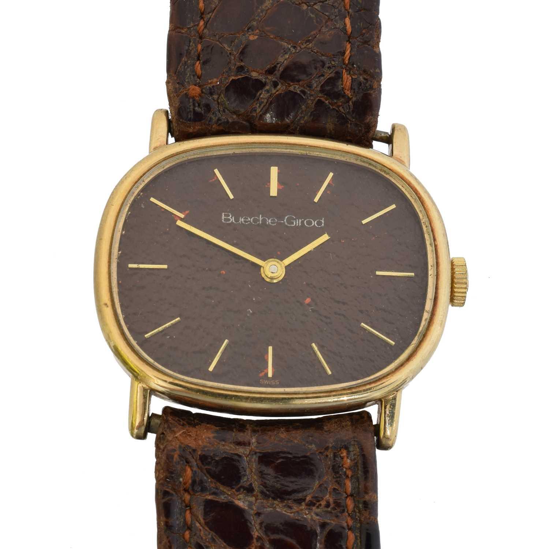 A 1970s 9ct gold Bueche Girod watch,
