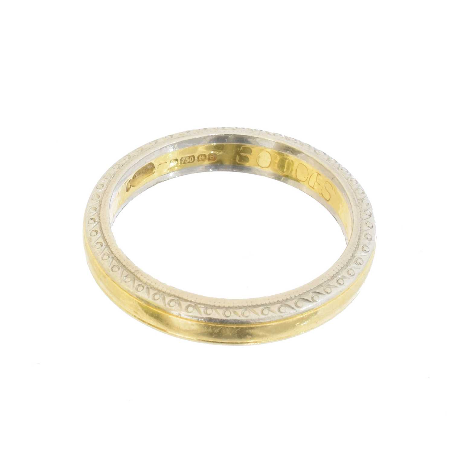 An 18ct gold band ring by Boodles, - Image 2 of 2