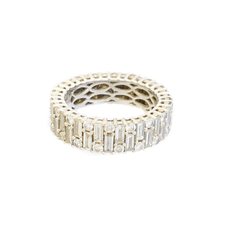 A diamond eternity ring, - Image 2 of 2