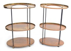 Two similar 19th-century continental campaign design washstands