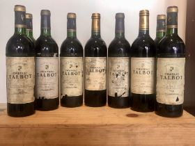 9 bottles Mixed Lot of Vintages of Chateau Talbot Grand Cru Classe St Julien
