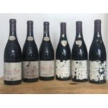 6 Bottles mixed Lot 2001 Chateauneuf du Pape and Vacqueyras