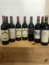 9 Bottles Mixed Lot Fine and Mature Claret to include Grands Crus Classes comprising