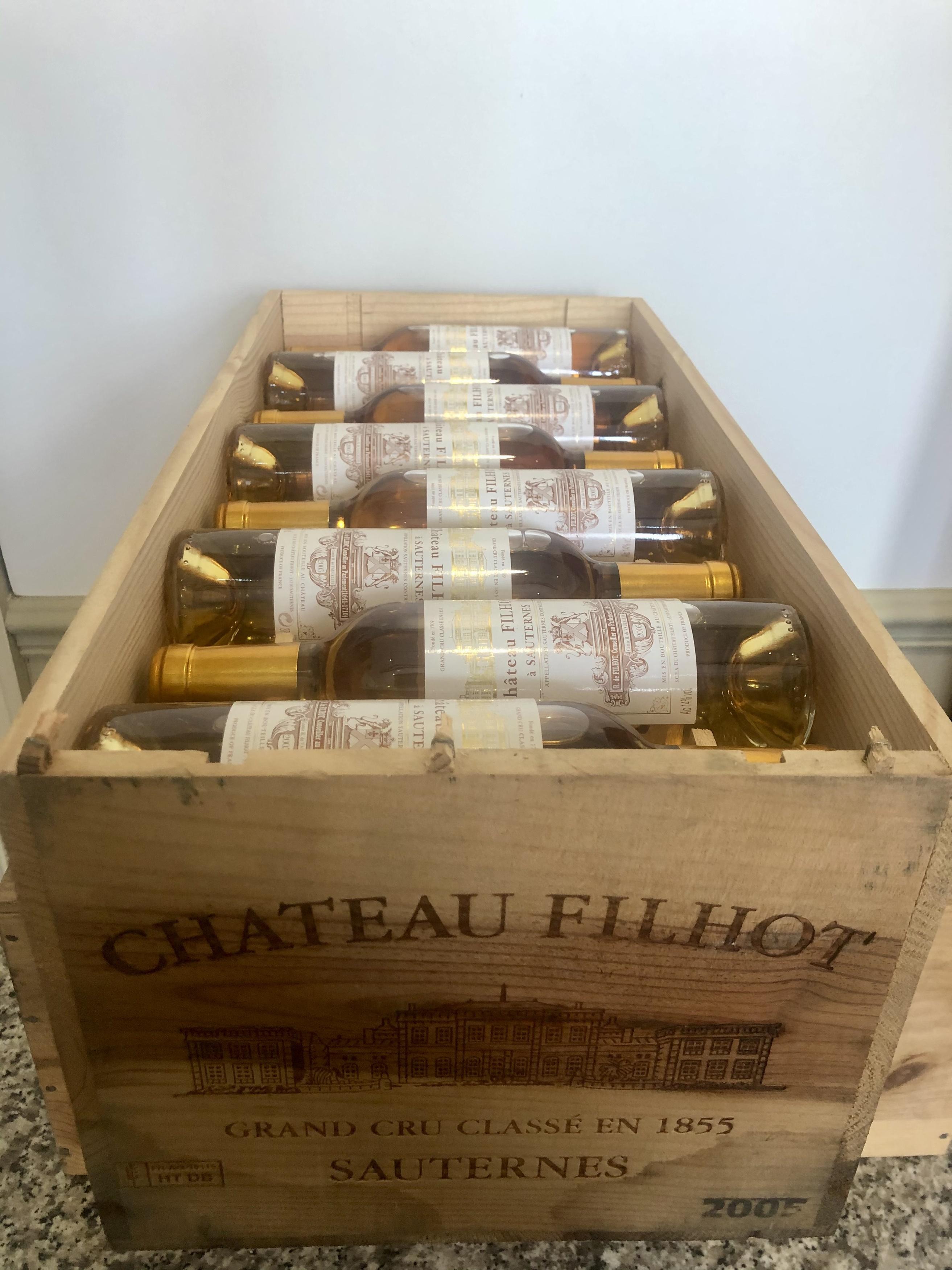 24 Half Bottles (in OWC) Chateau Filhot Grand Cru Classe Sauternes 2005