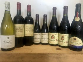 8 bottles including half bottles mixed lot good french 'fine' wines