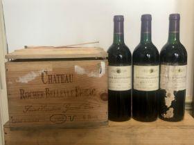 9 Bottles Chateau Rocher-Bellevue Figeac St Emilion Grand Cru 1988