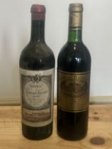 2 Bottles Fine and Rare old Vintage Classified Growth Claret