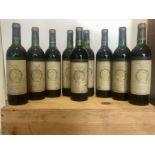 9 bottles (In OWC) Chateau Gruaud Larose Grand Cru Classe St Julien 1985