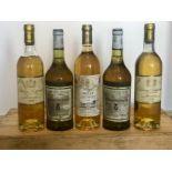 5 Bottles Mixed Lot Fine Classified Sauternes