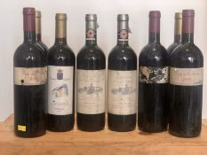 8 Bottles Mixed Lot Italian Red wines including Chianti Classico Riserva and 'Super Tuscan'