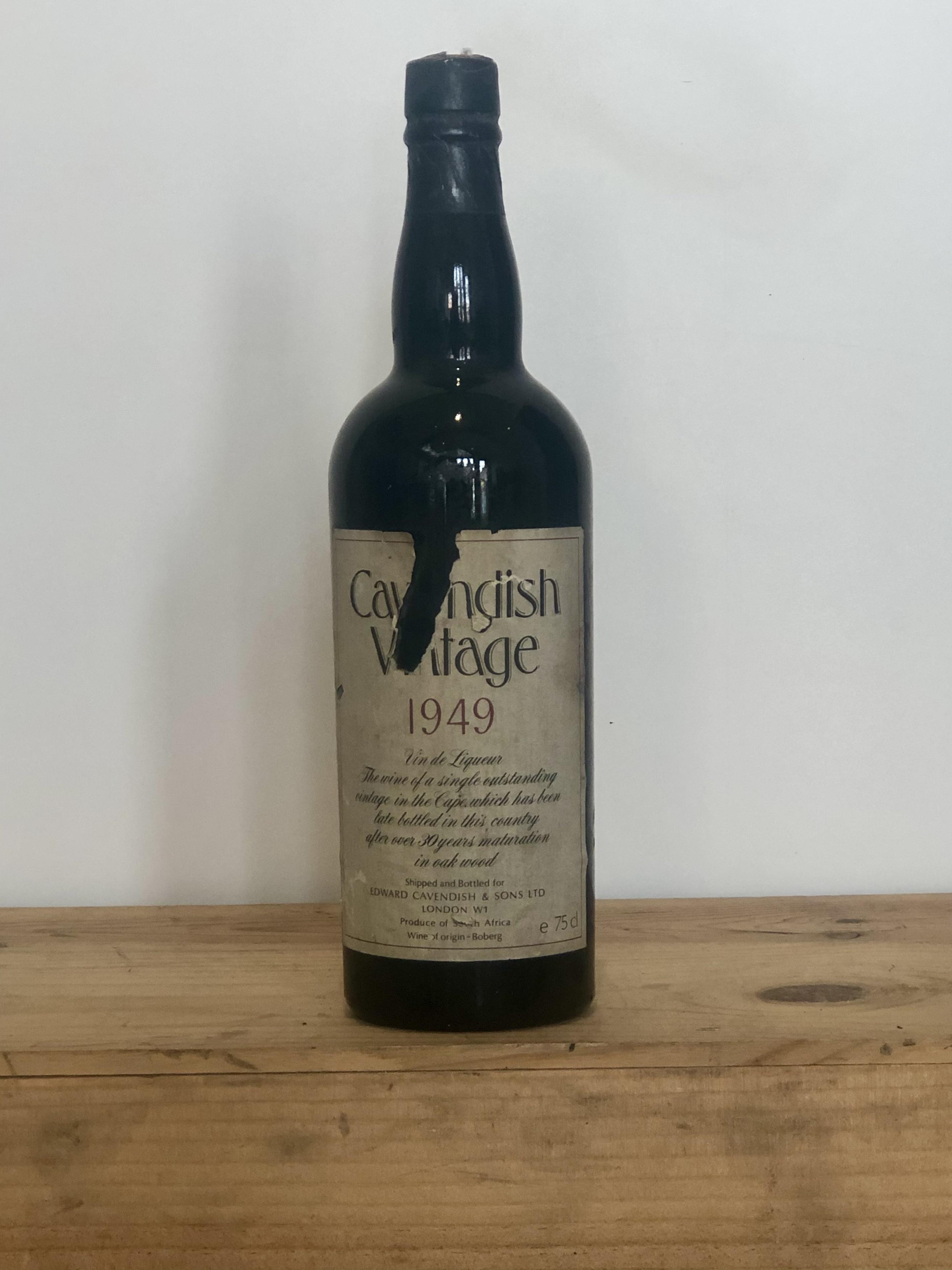 1 Bottle Cavendish S.A. Tawny Vintage 1949