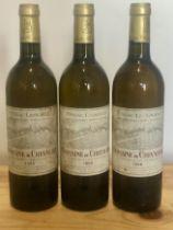 3 Bottles Domaine de Chevalier Blanc Pessac-Leognan 1986