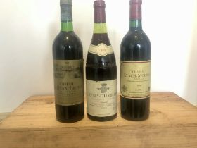 3 Bottles Mixed Lot Grand Cru Classe Claret and Fine Burgundy