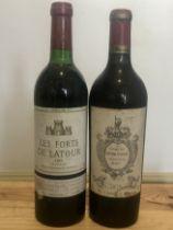 2 Bottles Lot Fine and Very Rare Claret Chateau Ferriere and Les Forts de Latour