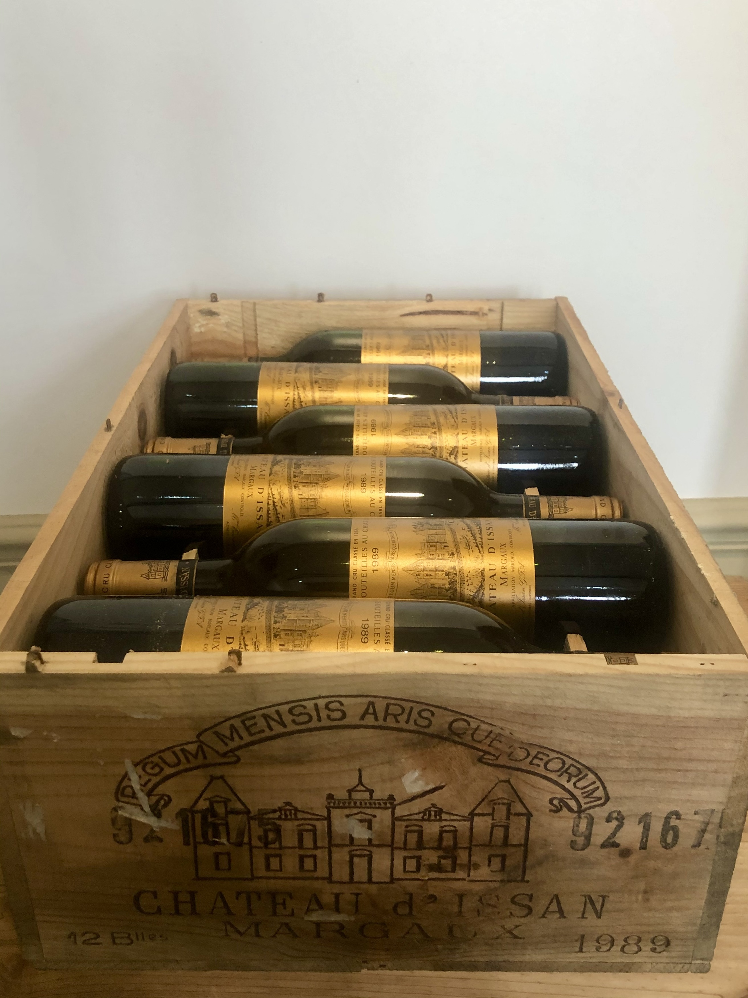 12 bottles (In OWC) Chateau d'Issan Grand Cru Classse Margaux 1989