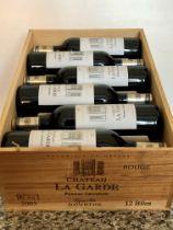 12 Bottles (in OWC) Chateau La Garde Rouge Pessac-Leognan Grand Vin de Graves 2005