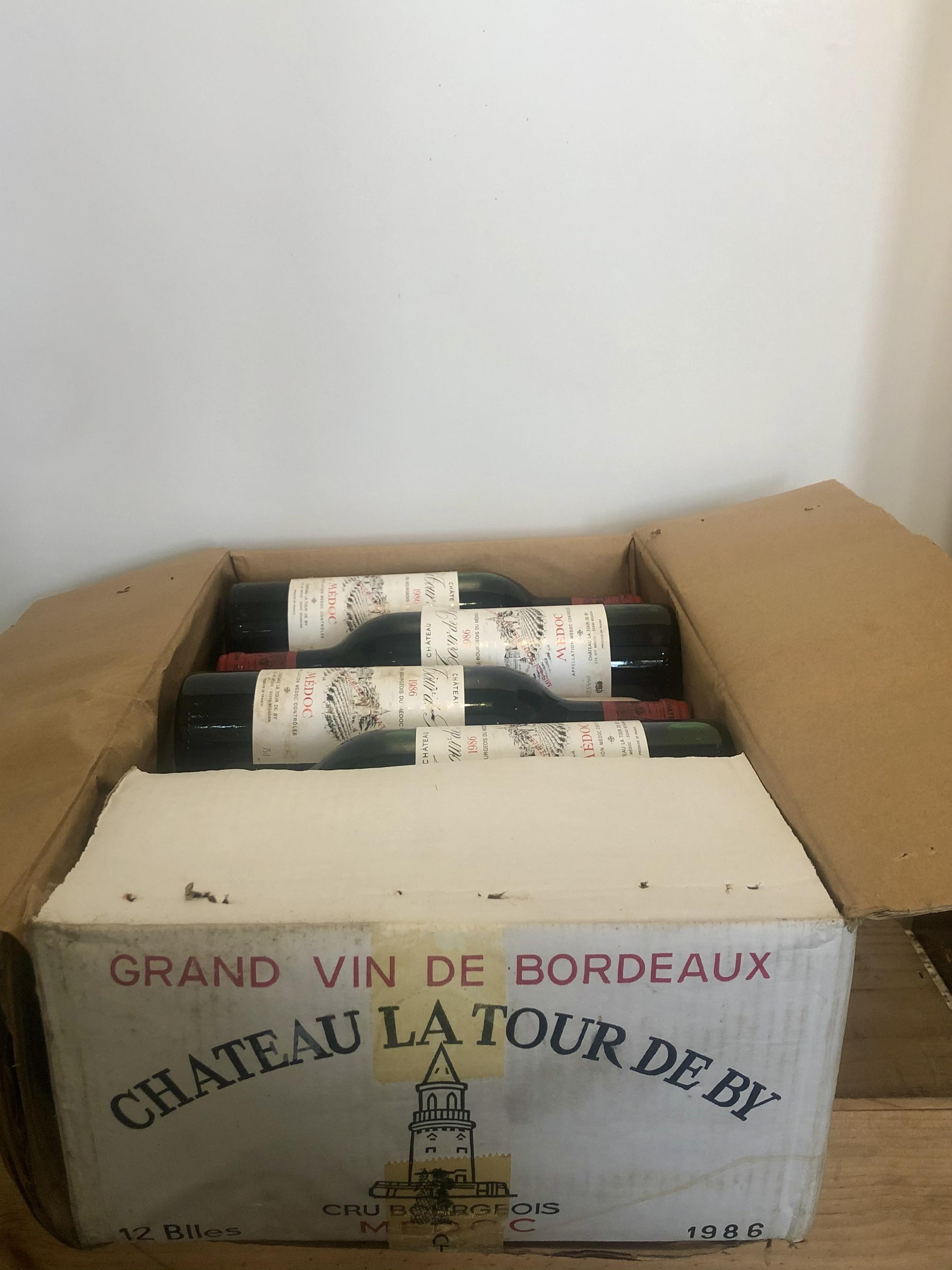 12 bottles (In OCC) Chateau La Tour de By Cru Bourgeois Medoc 1986
