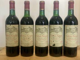 5 bottles Chateau Calon Segur Grand Cru Classe St Estephe 1989