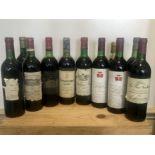 11 Bottles Mixed Lot Good Mature Claret and Sauternes
