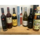 8 Bottles Mixed Lot Table Wine, Tawny Port, Fortified Wine and Spirit