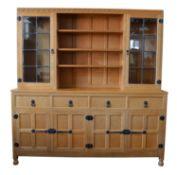 Mouseman Oak Display Dresser