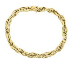 An 18ct gold bracelet,
