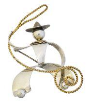 A Charles Horner cowboy brooch,