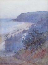 Carleton Grant R.B.A. (British 1860-1930) Coastal view with houses, watercolour.