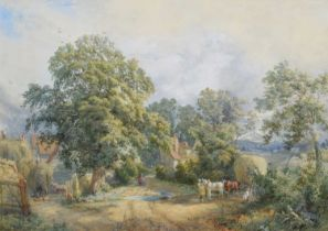 "Charles Davidson (British 1820-1902) ""The Homestead"", watercolour."