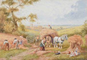 "A.D. Bell R.B.A. (British 1884-1966) ""Harvesting"", watercolour."