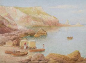 Samuel Edward Kelly (British 1862-1935) Beach scene with figures, watercolour.