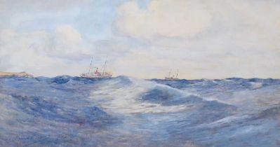 "Warren Williams (British 1863-1941) ""The Deep Blue Sea - Taking a Liverpool Pilot"", watercolour."