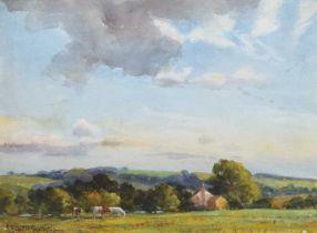 "George Hamilton Constantine (British 1878-1967) ""Slay Leigh Farm, Hallam, Yorkshire"", watercolour."