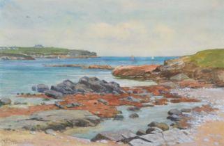 John McDougal (1880-1934) Coastal view, watercolour.